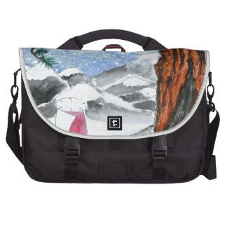 Man in the snow commuter bag