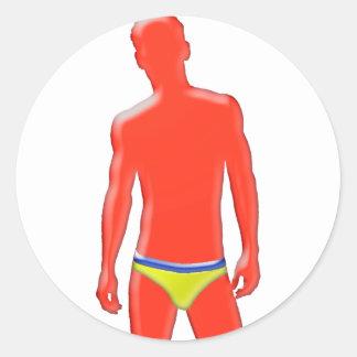 Man in Underwear Stickers
