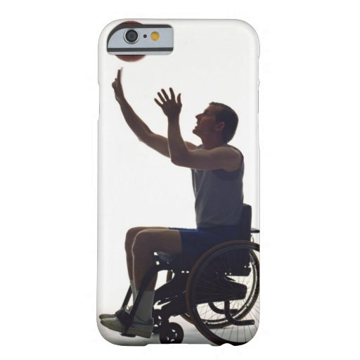 Man in wheelchair playing with basketball iPhone 6 case