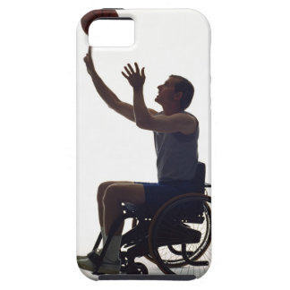 Man in wheelchair playing with basketball case for the iPhone 5