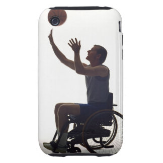 Man in wheelchair playing with basketball iPhone 3 tough covers