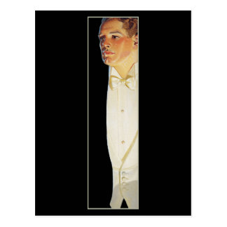 Man in White Tie by Leyendecker Postcard
