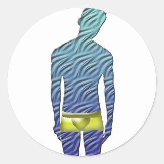 Man in Yellow Underwear Stickers