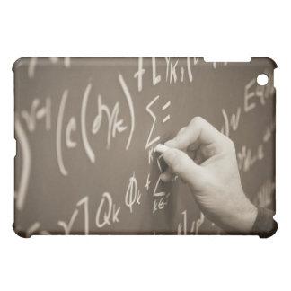 Man ing math equations on a chalkboard iPad mini case