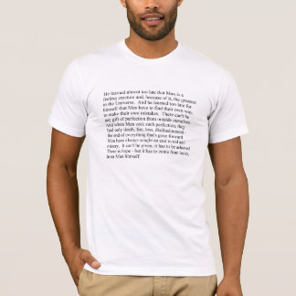 Man is a feeling creature men's t-shirt