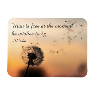 Man is Free Voltaire Quote Magnet
