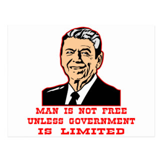 Man Is Not Free Unless Government Is Limited Postcard