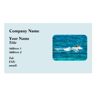 Man Jet Skiing Business Card Template