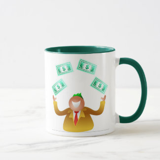 Man Juggling Dollars Mug