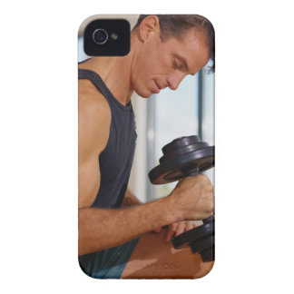 Man Lifting a Dumbbell iPhone 4 Cases