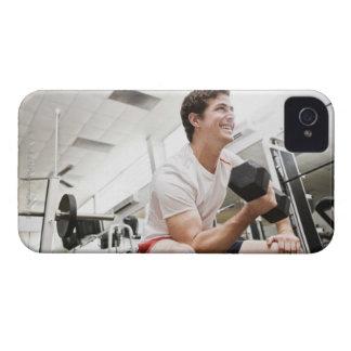 Man lifting dumbbells Case-Mate iPhone 4 case