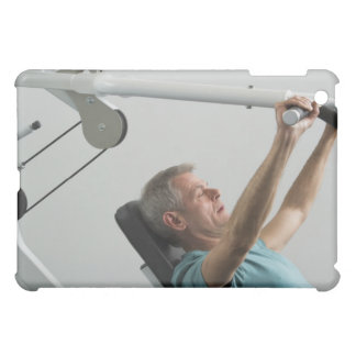 Man lifting weight at gym case for the iPad mini