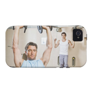 Man lifting weights at gym iPhone 4/4S covers