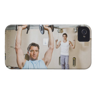 Man lifting weights at gym iPhone 4 cases