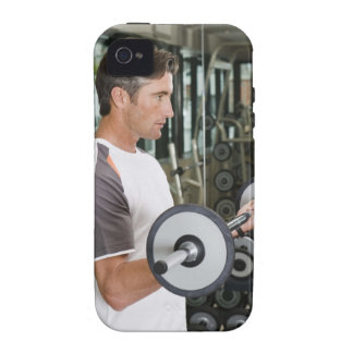 Man lifting weights in gym 2 iPhone 4 covers