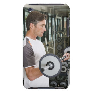 Man lifting weights in gym 2 iPod touch cover