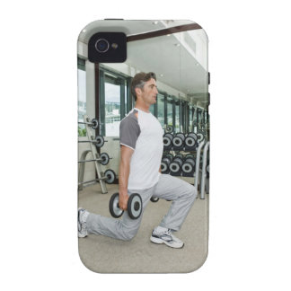 Man lifting weights in gym vibe iPhone 4 covers