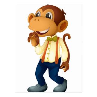 Man-like monkey postcard