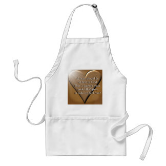 Man Lost In God Adult Apron