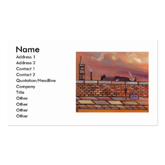 Man Lying on a Wall Business Card Template