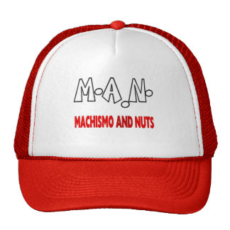 Man machismo and nuts trucker hat