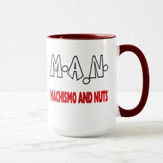 Man Machismo and Nuts mug