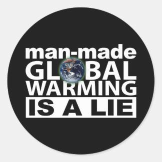 Man-Made Global Warming is a Lie Sticker