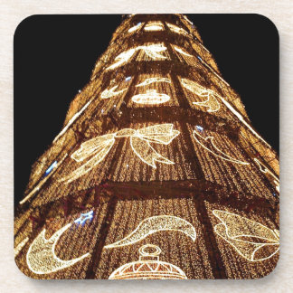 Man Made Illuminated Christmas Tree Drink Coaster