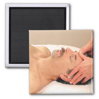Man Massaging Male Face Refrigerator Magnets