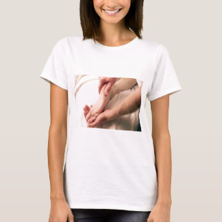 Man Massaging Male Foot T-Shirt