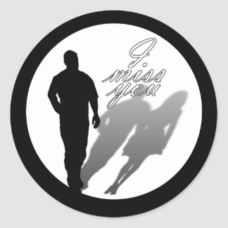 Man Missing Woman Silhouette Stickers