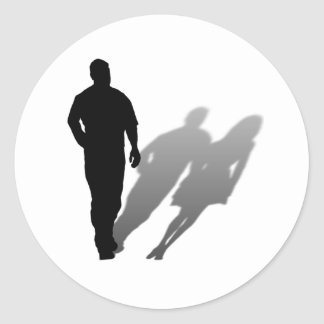 Man Missing Woman Silhouette Sticker