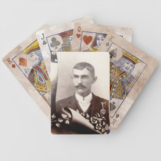 Man Moustache Vintage Photograph Playing Cards