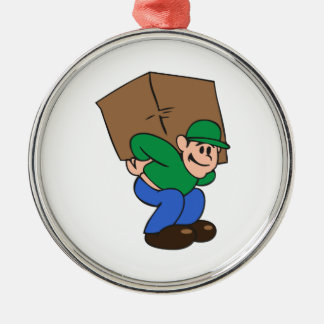 MAN MOVING CHRISTMAS ORNAMENT