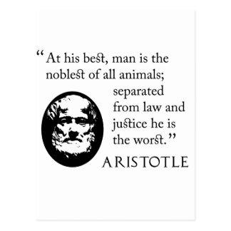 man, noblest of animals, Aristotle Postcard