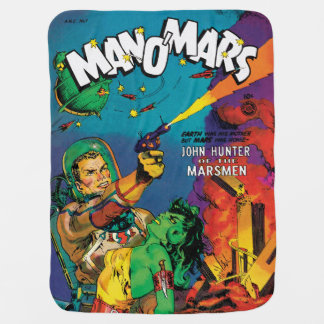Man O' Mars Vintage 50s Sci Fi Comic Book Buggy Blanket