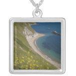 Man o War Bay, Jurassic Coast, Lulworth, Dorset, Square Pendant Necklace