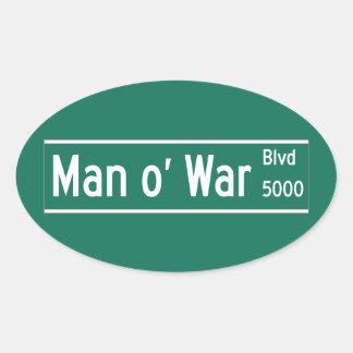Man O' War Boulevard, Street Sign, Kentucky, US Sticker