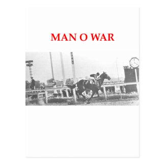 man o war post card