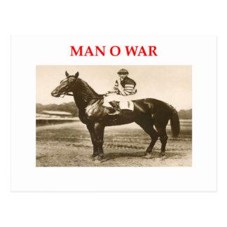 man o war post cards