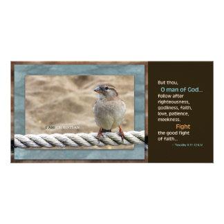 Man of God KJV Scripture Card Picture Card