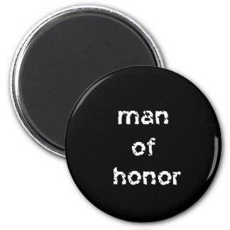 Man of Honor 6 Cm Round Magnet