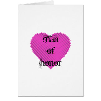 Man of Honor Card