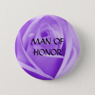 MAN of HONOR- lavender rose button
