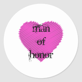 Man of Honor Round Sticker