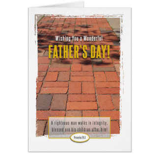 Man of Integrity Father's Day Card