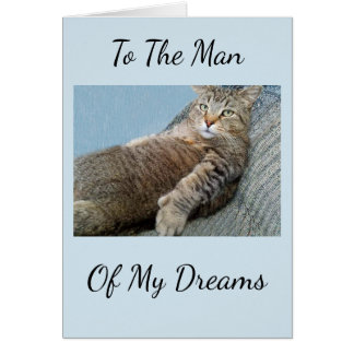 Man Of My Dreams Birthday Card