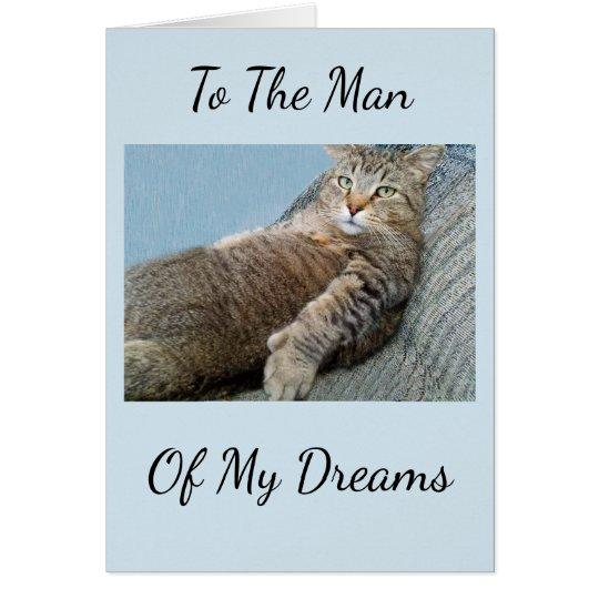 Man Of My Dreams Birthday Card