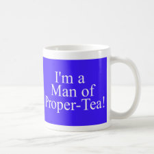 Man of proper-tea mug in blue