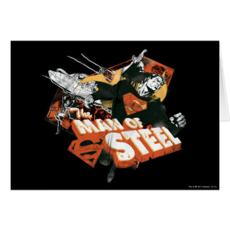 Man of Steel Collage Card